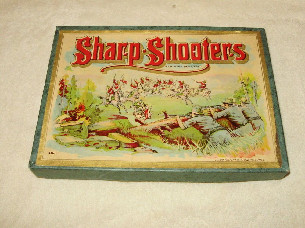 """SHARP SHOOTERS"" Milton Bradley Board Game Spanish"
