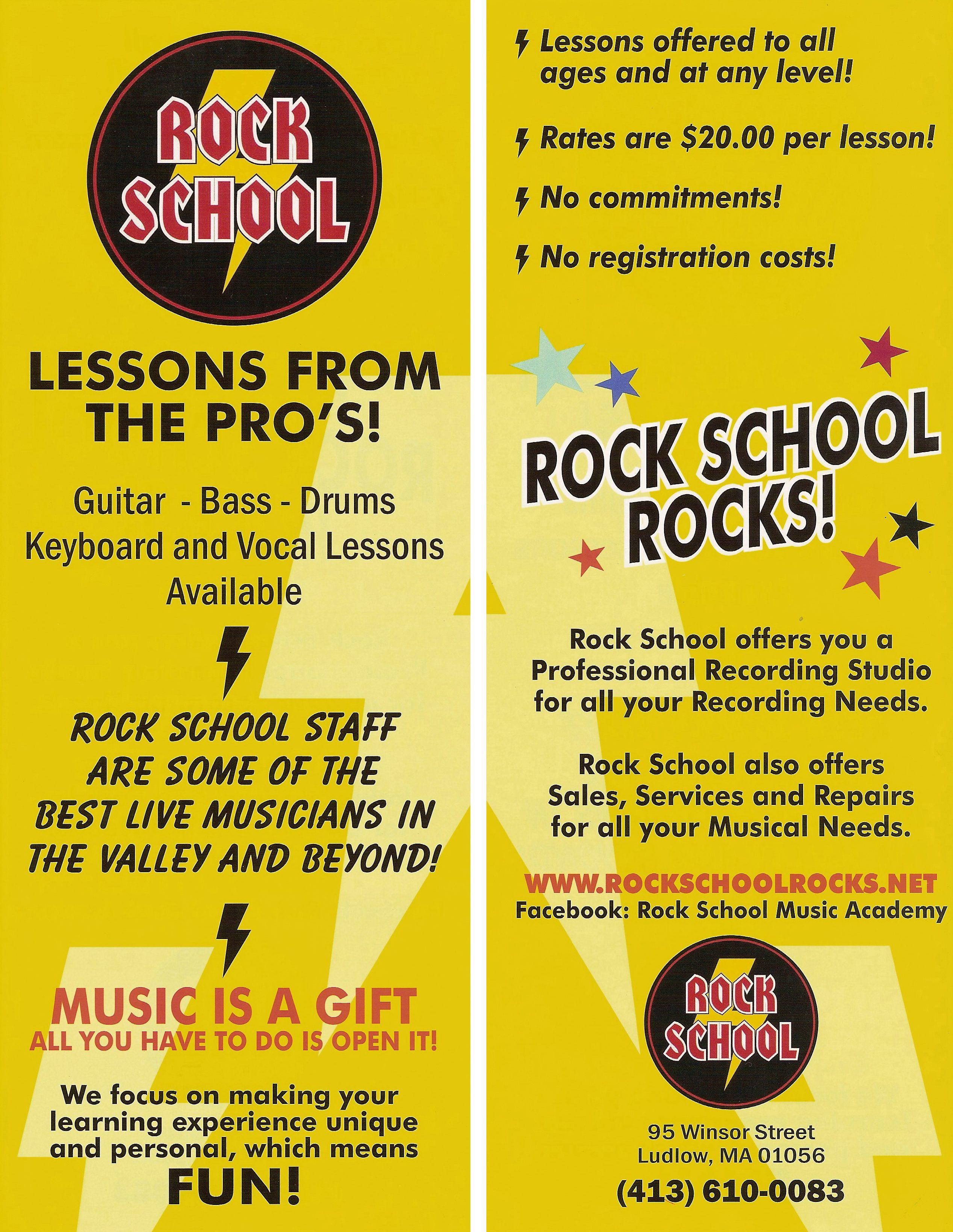 Brochure Design For A Music School  Design Portfolio