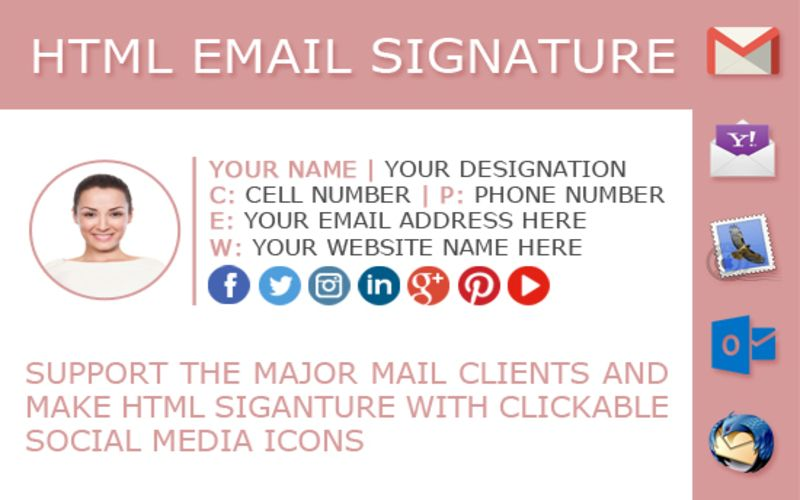 Adding a Email signature to your sending emails, you can