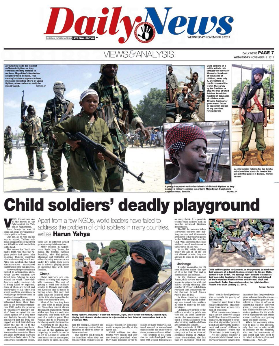 Child Soldiers Deadly Playground Children Playground Tipi