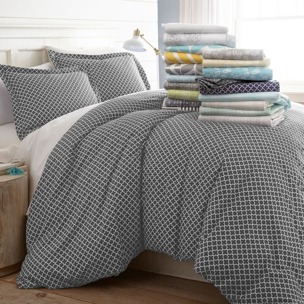Details about Hotel Luxury 3 Piece Patterned Duvet Cover