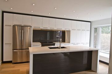 Ikea Abstrakt White Custom   Modern   Kitchen   Toronto   TS KITCHEN  PROJECTS
