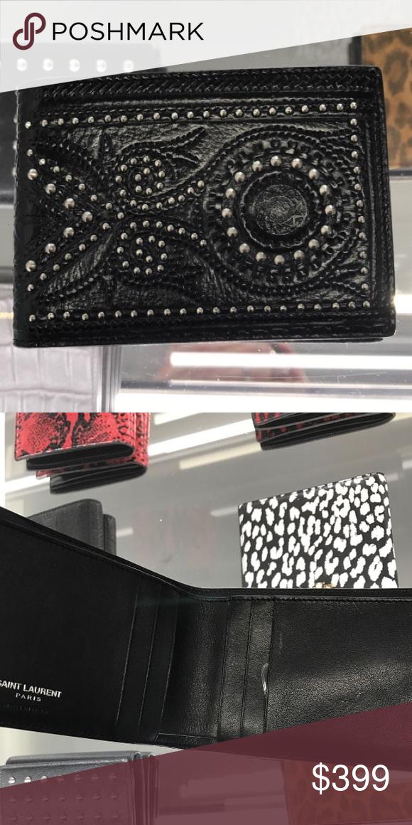 e7d913f6 NWT YSL men's studded wallet NWT YSL men's studded wallet Yves Saint ...