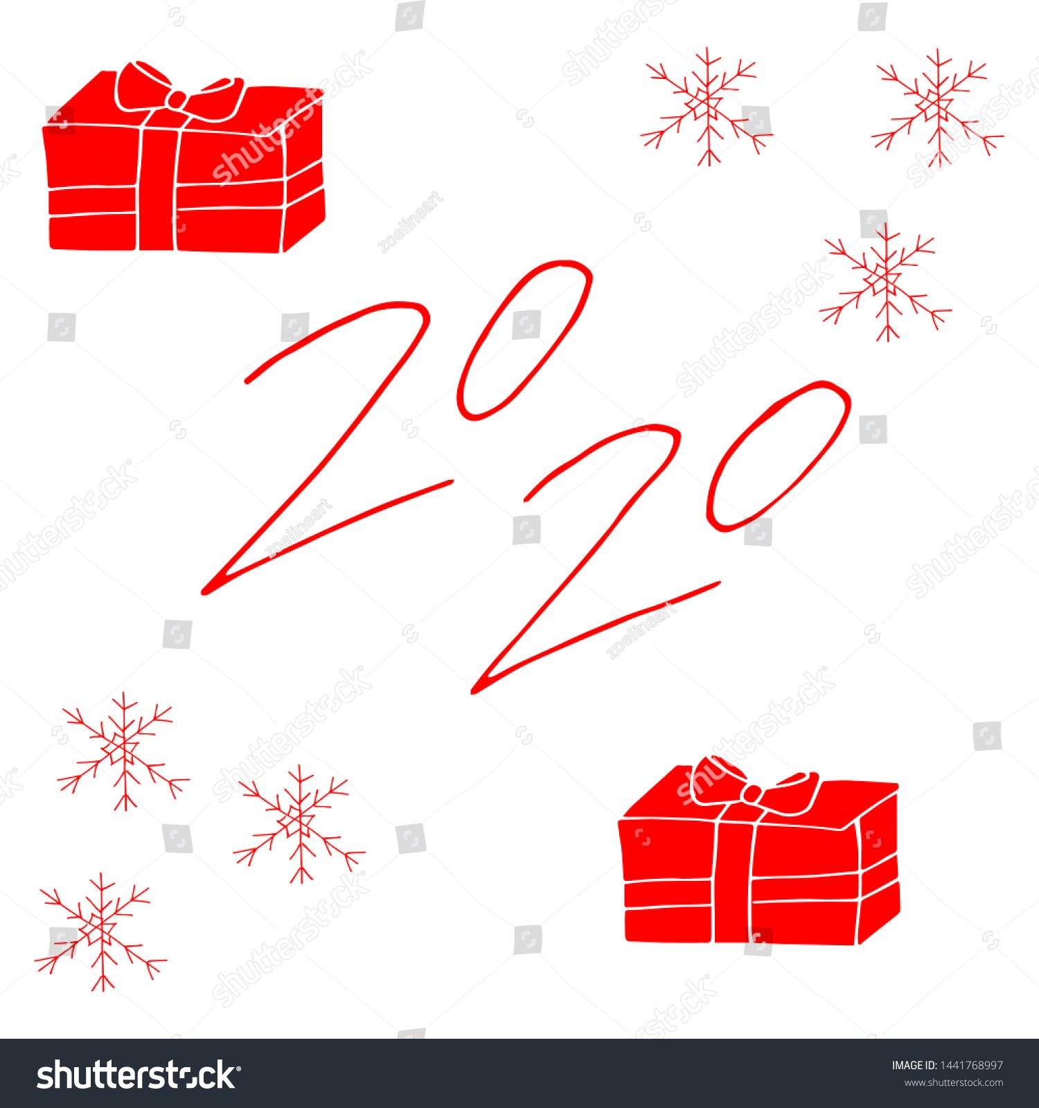 2020 Text Design Red Color Collection Of Happy New Year And Happy Holidays Lettering Design Element Handwritte Text Design Lettering Design Color Collection