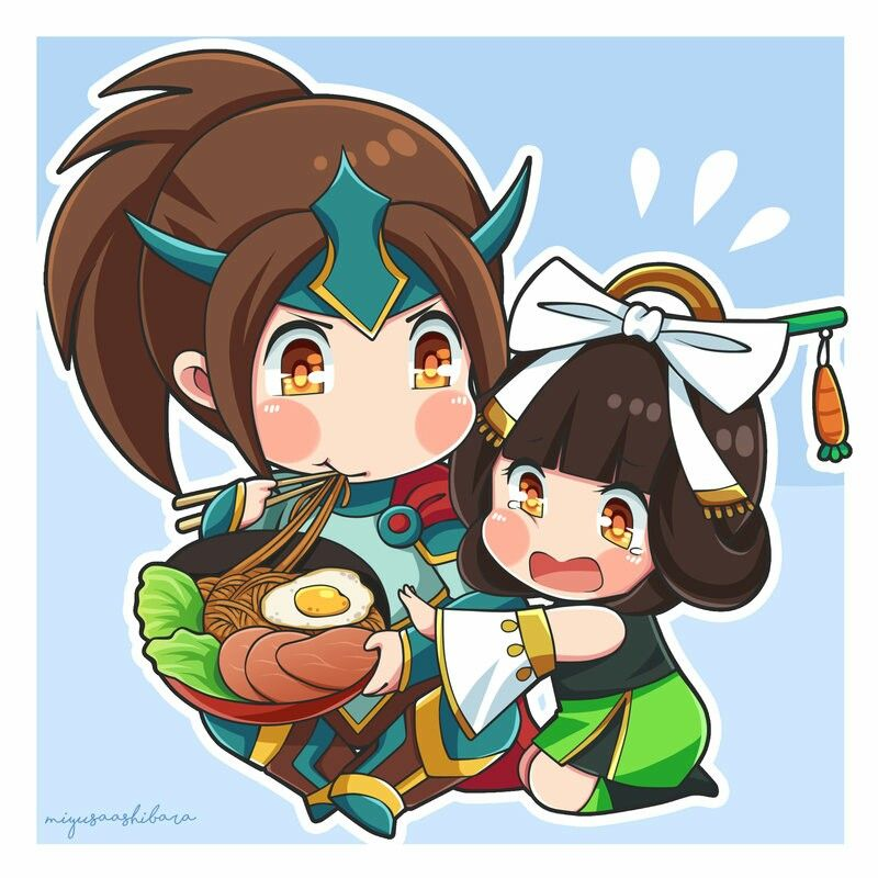 Wallpaper Mobile Legend Hd Lancelot Gamewallpapers: Chibi Zilong And Chang'e #MobileLegends By Miyusa Ashibara