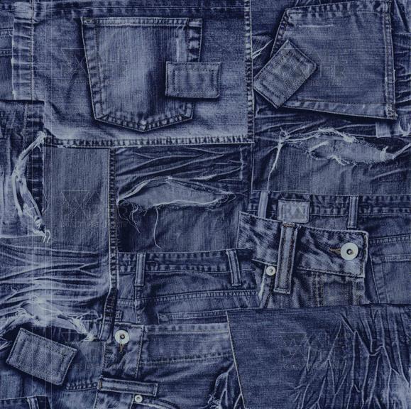 Blauw Jeans Behang Blauw Jeans Behang