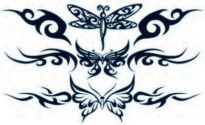 Sexy tribal butterfly tatoo