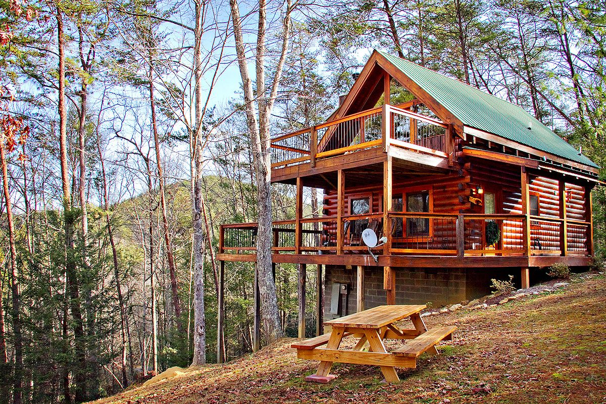 tennessee treasures  2 bedroom cabin in sevierville