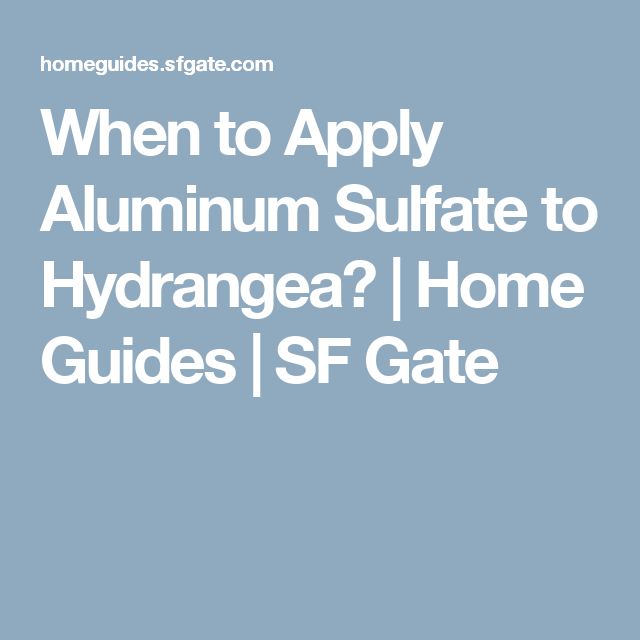 Gardens · When To Apply Aluminum Sulfate ...