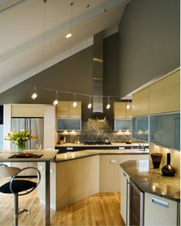 Suspended Track Lighting For Vaulted Ceilings Contemporary