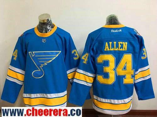 Men's St. Louis Blues #34 Jake Allen Blue 2017 Winter Classic Stitched NHL  Reebok