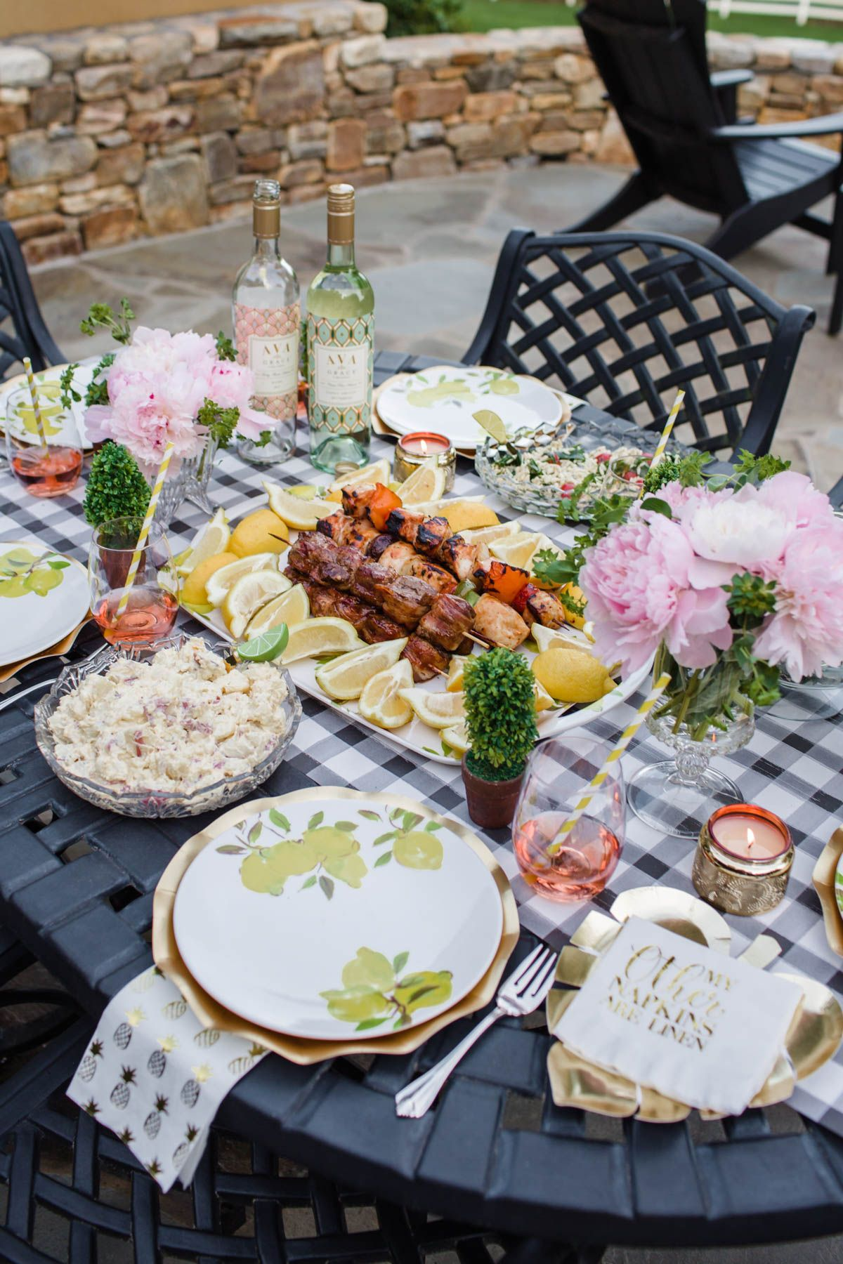 Outdoor Summer Dinner Party With Ava Grace - The Southern