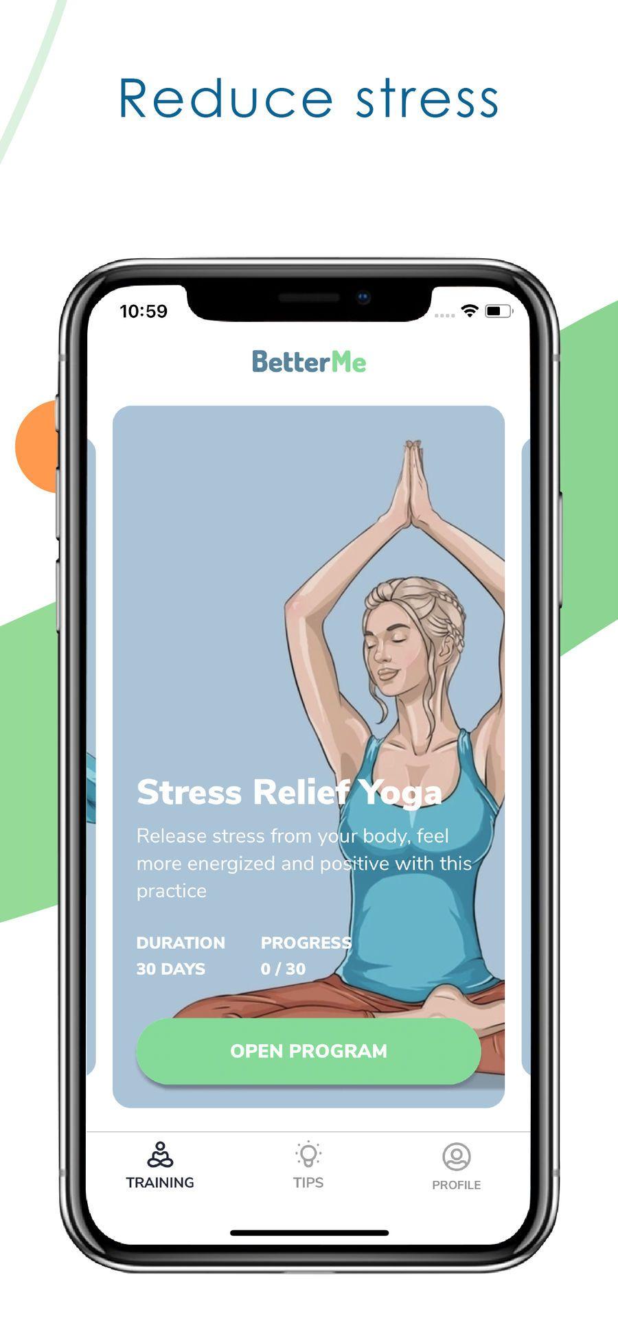 BetterMe: Yoga on the App Store | Йога, Йога для снятия ...