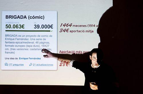 #CROWDFUNDING Verkami - Jonàs Sala en Creative Mornings Barcelona 2012. Foto: Jordi Sanchez (@isjordi)  Crowdfunding verkami