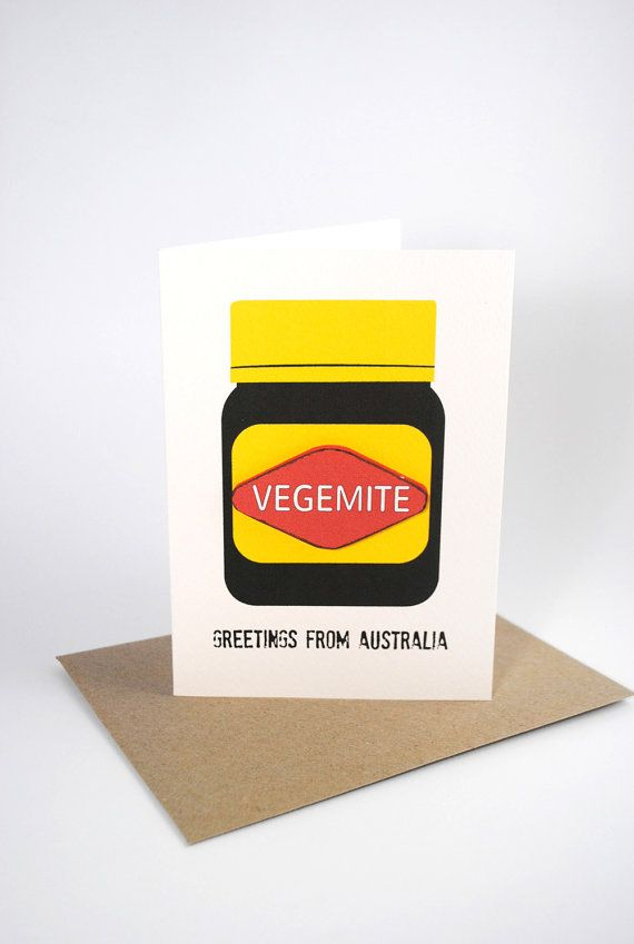 Australia Card Vegemite Large Jar Aus008 Greetings From
