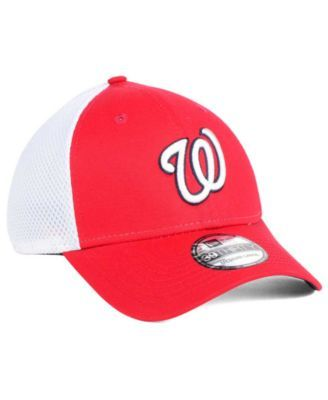 cfe6edfff8e262 This stretch fitted cap has mesh back featuring your favorite team's name. New  Era Washington Nationals Neo Builder 39THIRTY Cap - Red/White L/XL  Washington
