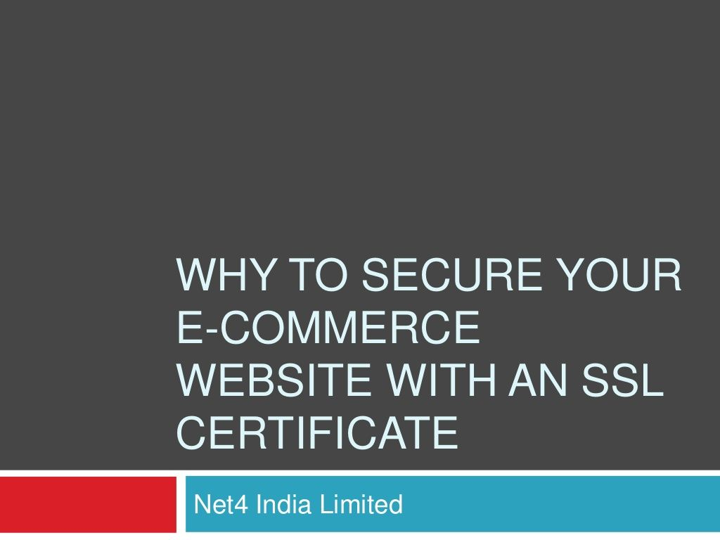 How To Secure Your E Commerce Website With An Ssl Certificate By