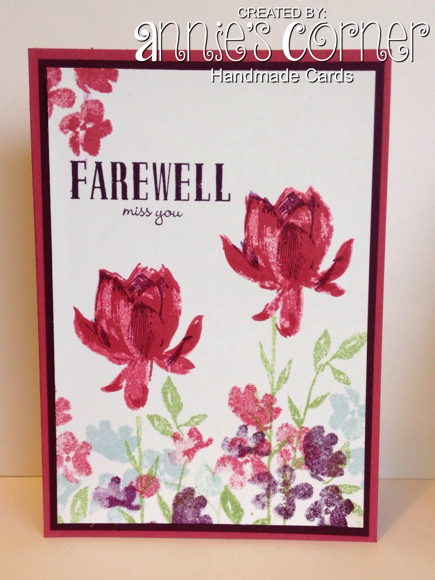 Cased card made for a work friend who is leaving using stampin up