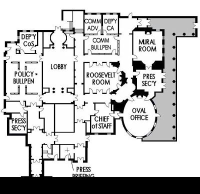West Wing Layout White House Floor Plan