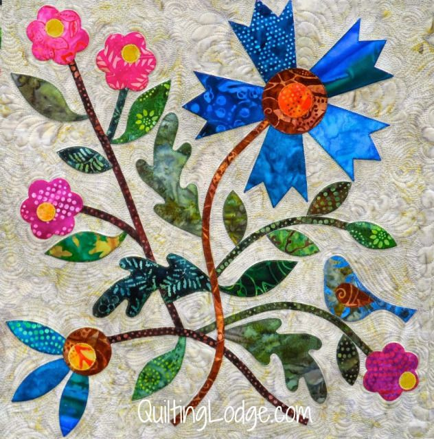 Spring Bouquet Quilt, guild member, quilted by Orchid Owl Quilts ... : orchid quilt pattern - Adamdwight.com