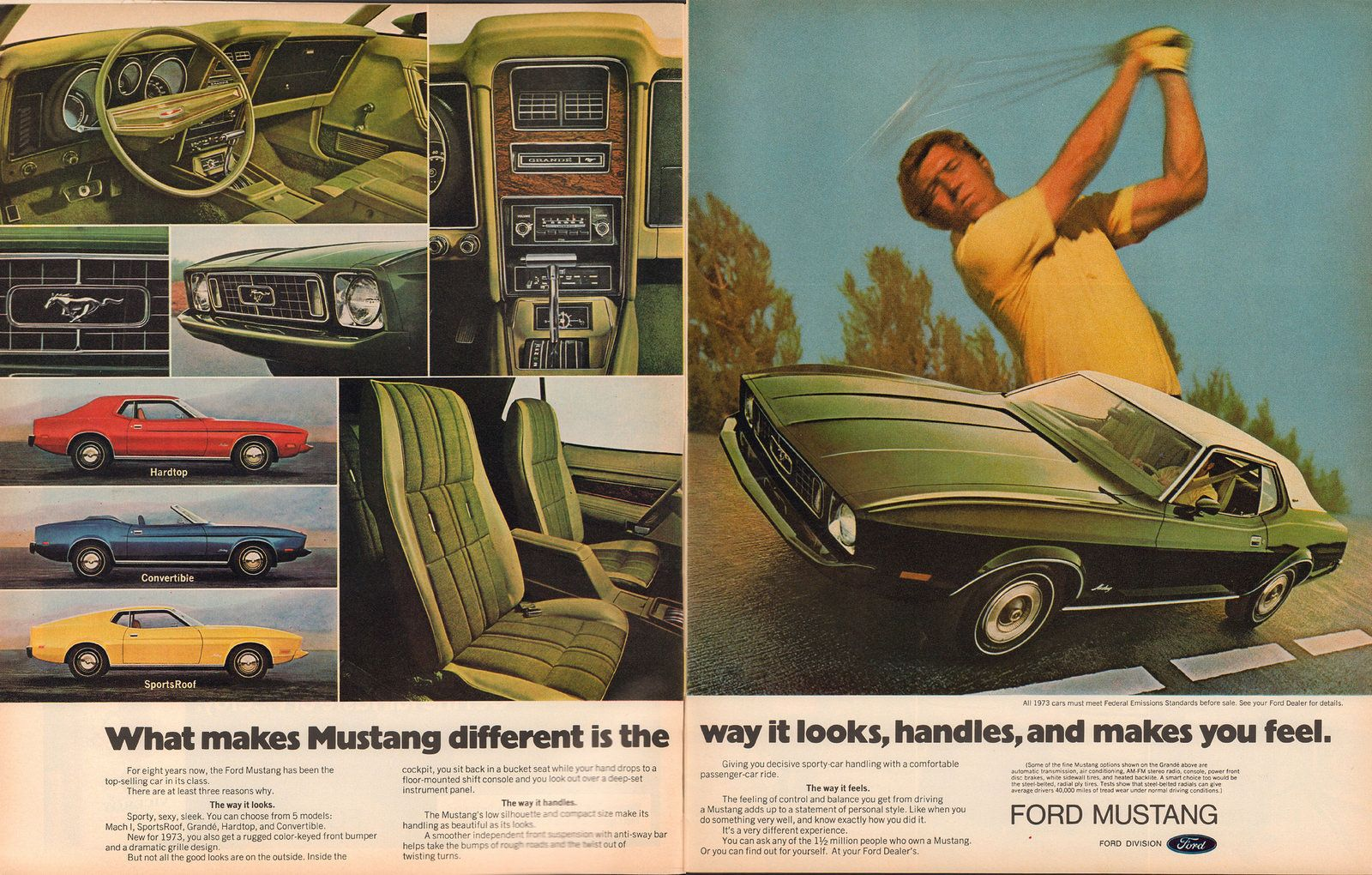 1973 Ford Mustang Advertisement Life Magazine October 13 1972 Ford Mustang Ford Mustang Car Mustang