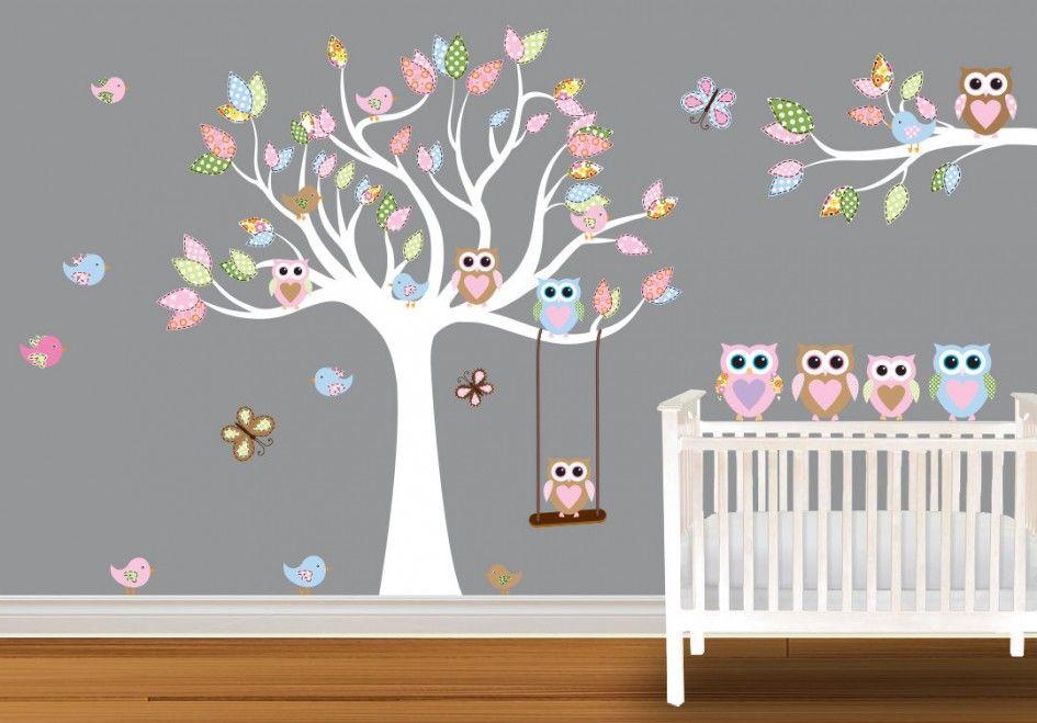 baby nursery gorgeous tree owls wall decal cute baby nursery decor