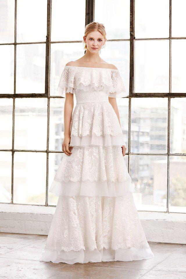Tadashi Shoji Bridal Spring 2019 Fashion Show | Tadashi shoji and ...