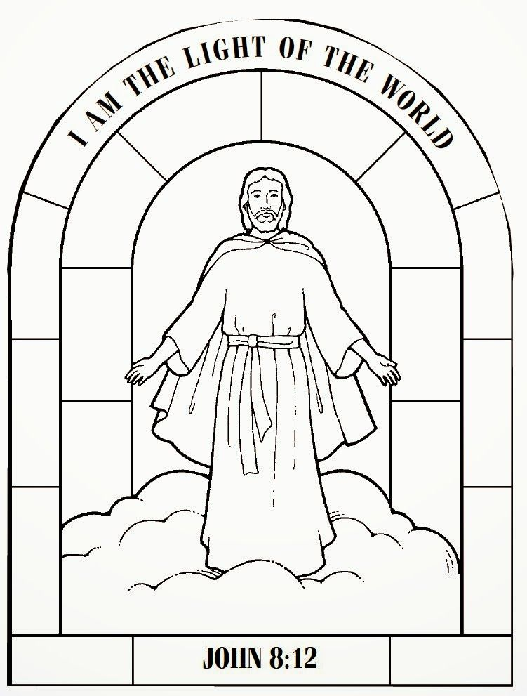 Jesus Is The Light Of The World Jesus Coloring Pages Lds Coloring Pages Christian Coloring