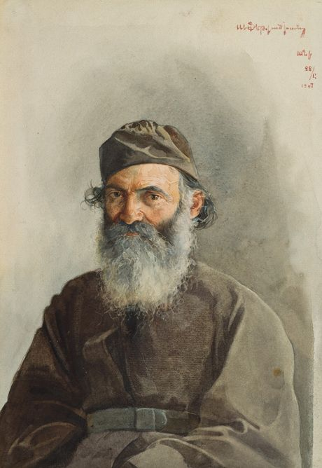 Arshak Fetvadjian - Portrait of Mikayel Vartabed (1907)