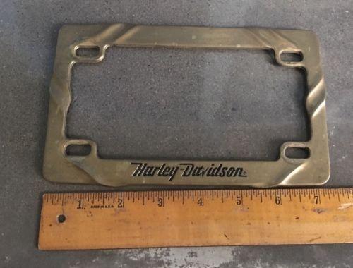 harley vintage harley davidson solid brass motorcycle license plate frame please retweet - Harley Davidson License Plate Frame For Motorcycle