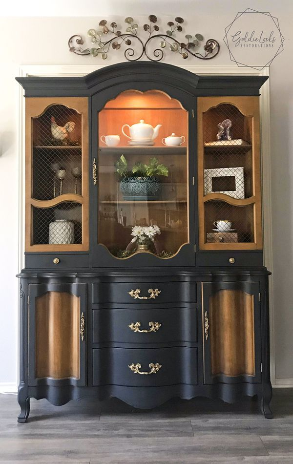 Vintage Lighted China Cabinet for Sale in San Antonio, TX ...