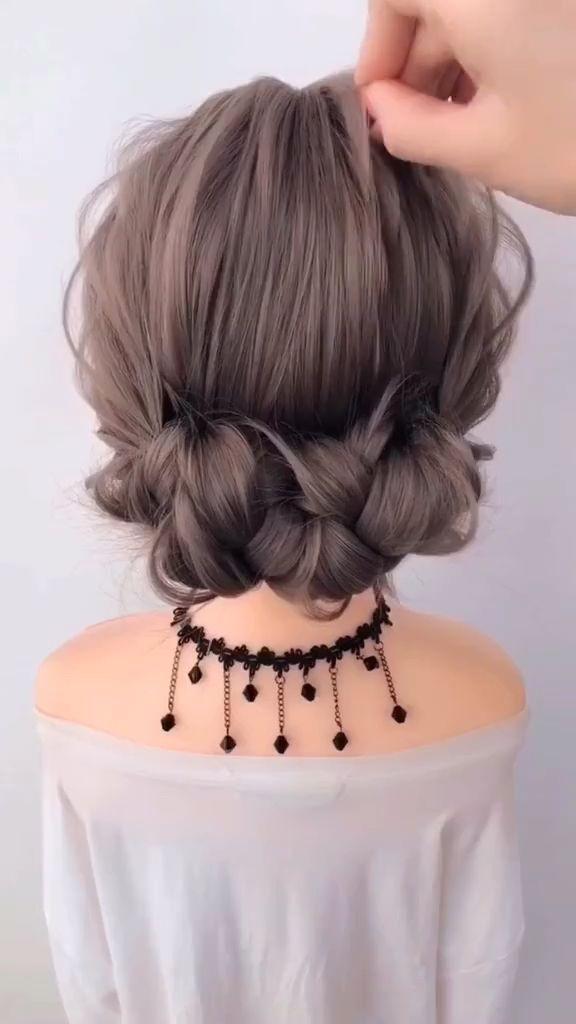 Peinado de trenza para niña linda: visite el sitio web para obtener más tutorial de cabello trenzado …