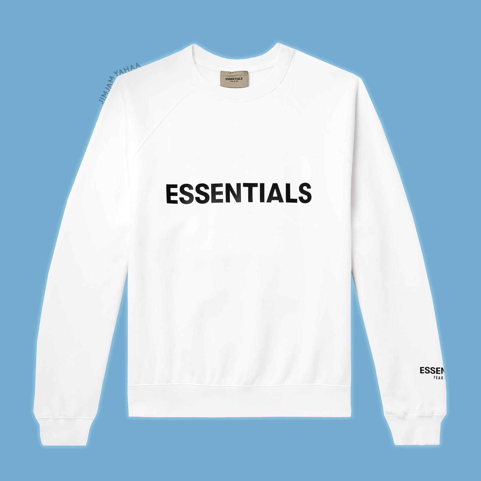 Fear Of God Essentials 3d Crewneck Sweatshirt Blanc De Blanc Medium Dswt Crew Neck Sweatshirt Sweatshirts Crew Neck [ 1600 x 1600 Pixel ]