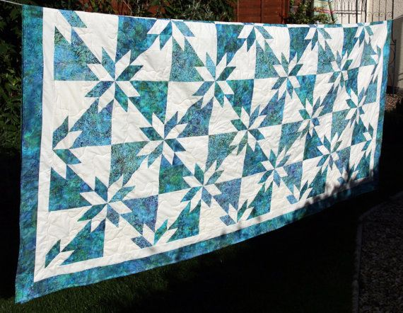 Hunters Star Batik Patchwork Quilt by PingWynny Made to Order | by ... : batik patchwork quilt - Adamdwight.com