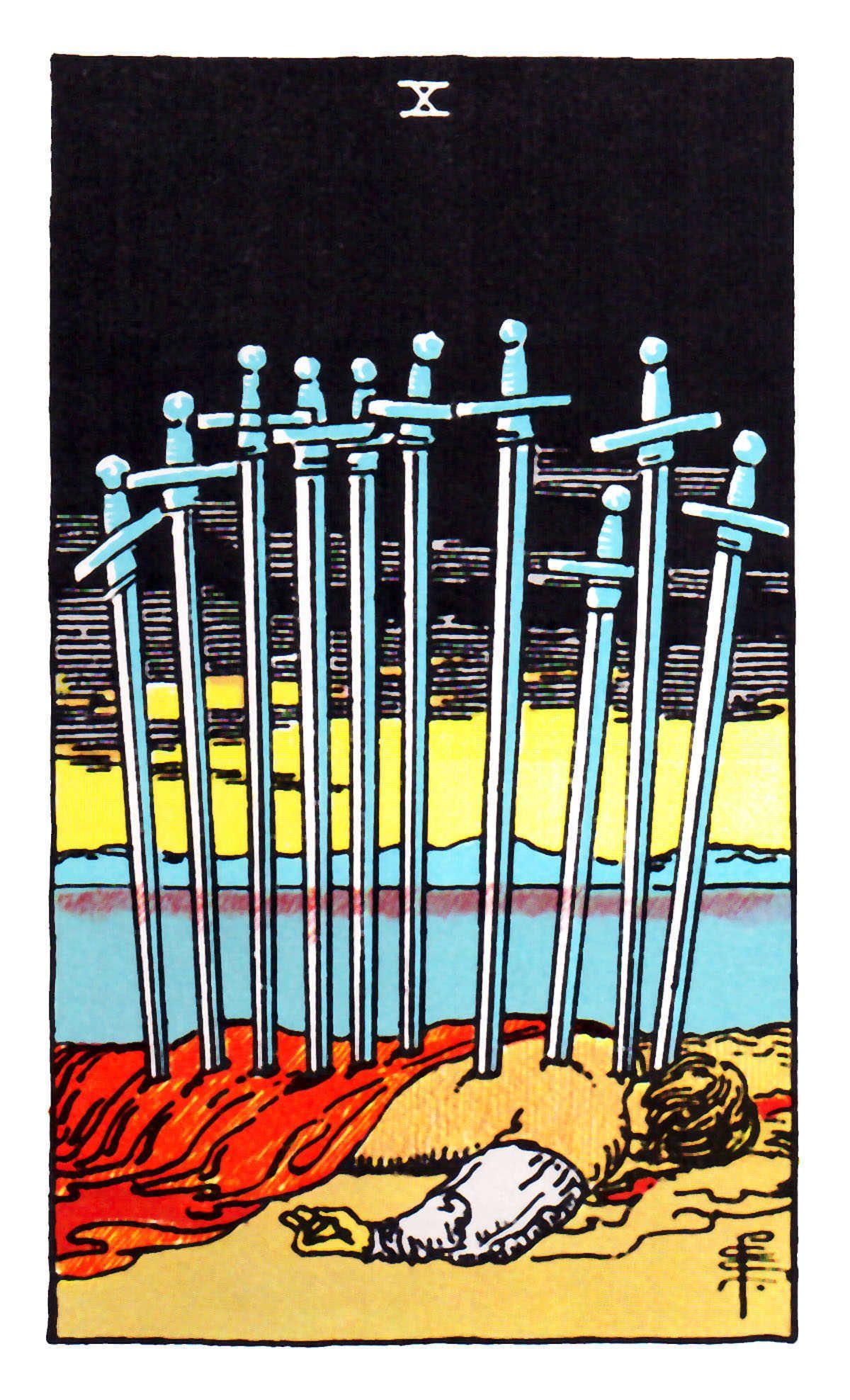 Ten Of Swords ~ Rider Waite