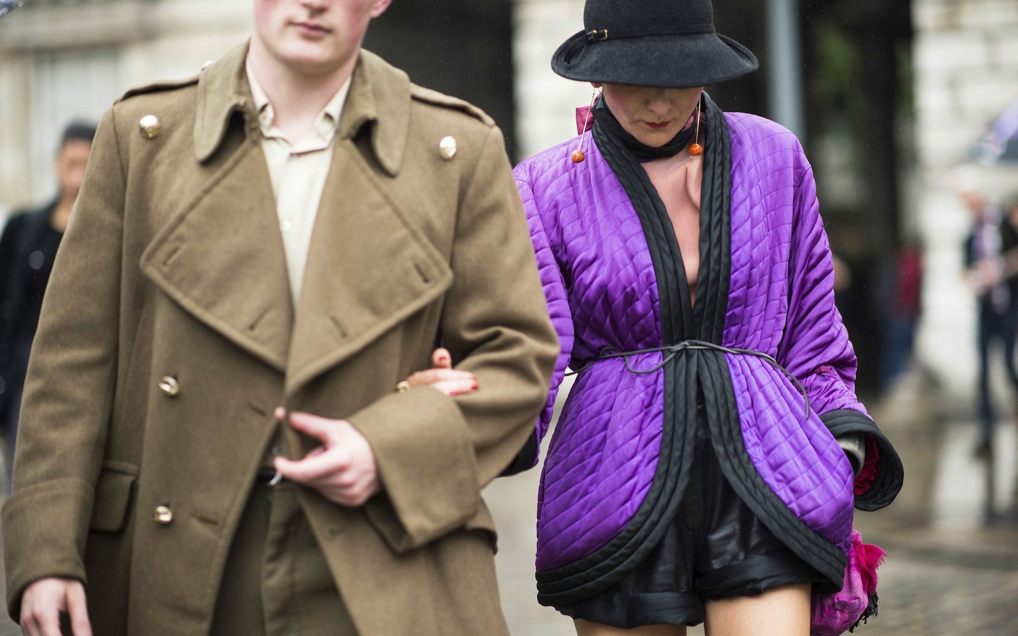London Fashion Week Spring 2014 Street Style, Day 1