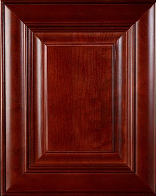 Cherry Wood Door Burgundy Stain