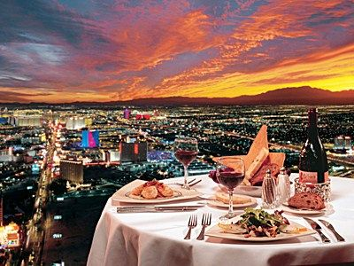Top Of The World Restaurant At Stratosphere Las Vegas Fantastic View