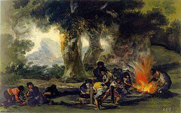 140. Fabbricazione di pallottole nella Sierra de Tardienta - 1810-14 - Madrid, Palazzo di Zarzuela