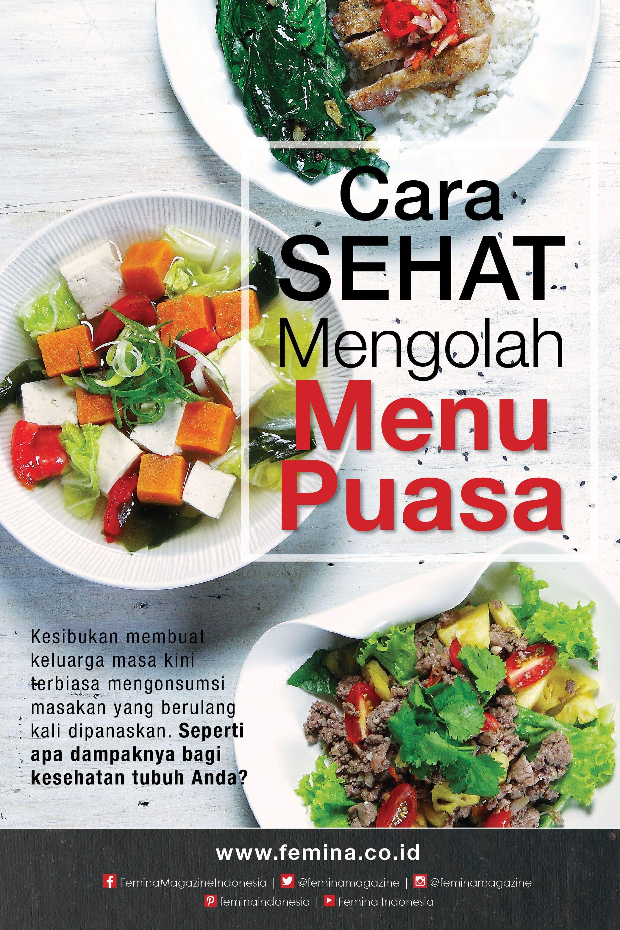 Cara sehat mengolah menu puasa dengan gambar nutrisi