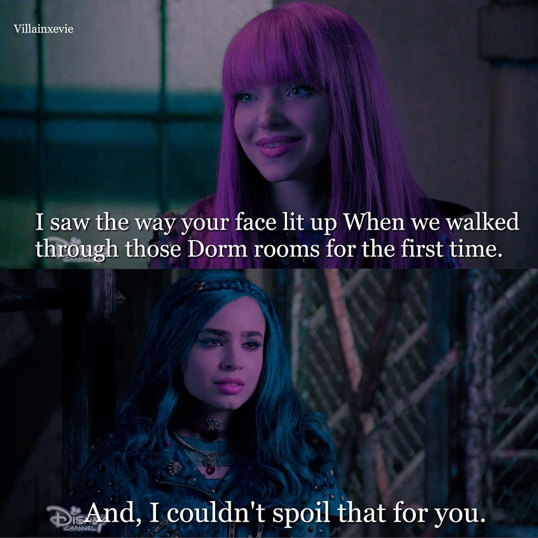 The Descendants Movie Quotes: Mal And Evie In Descendants 2 I Adore This Scene It Show