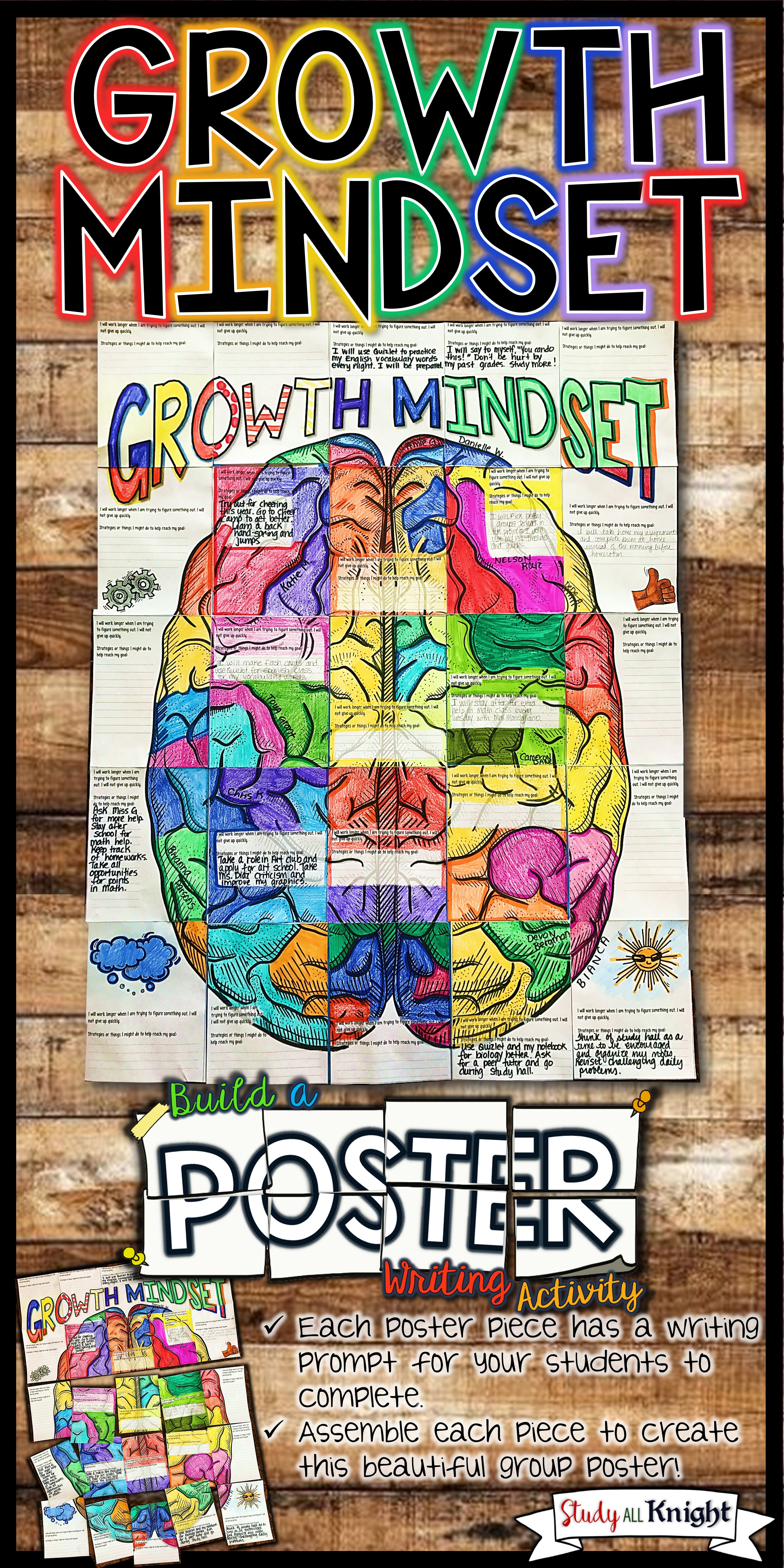 Growth Mindset Poster Setting Goals Collaborative Poster
