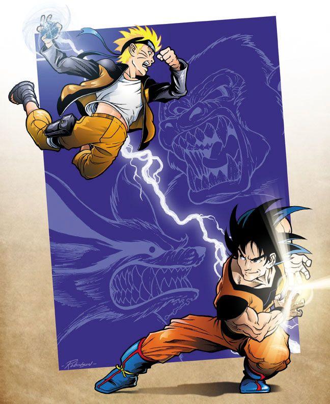 Battle Royale By Robinzson Anime Dragon Ball Anime Crossover Naruto Art