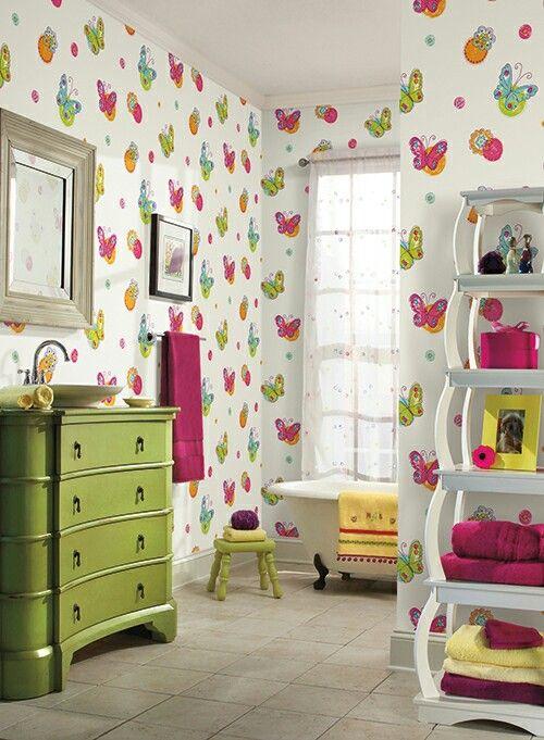 Papel Tapiz De Mariposas Para Cuartos De Ninas Coolkids Mariposas Decoracion Decoracion Dormitorios Infantiles Habitaciones Infantiles Recamaras De Ninas