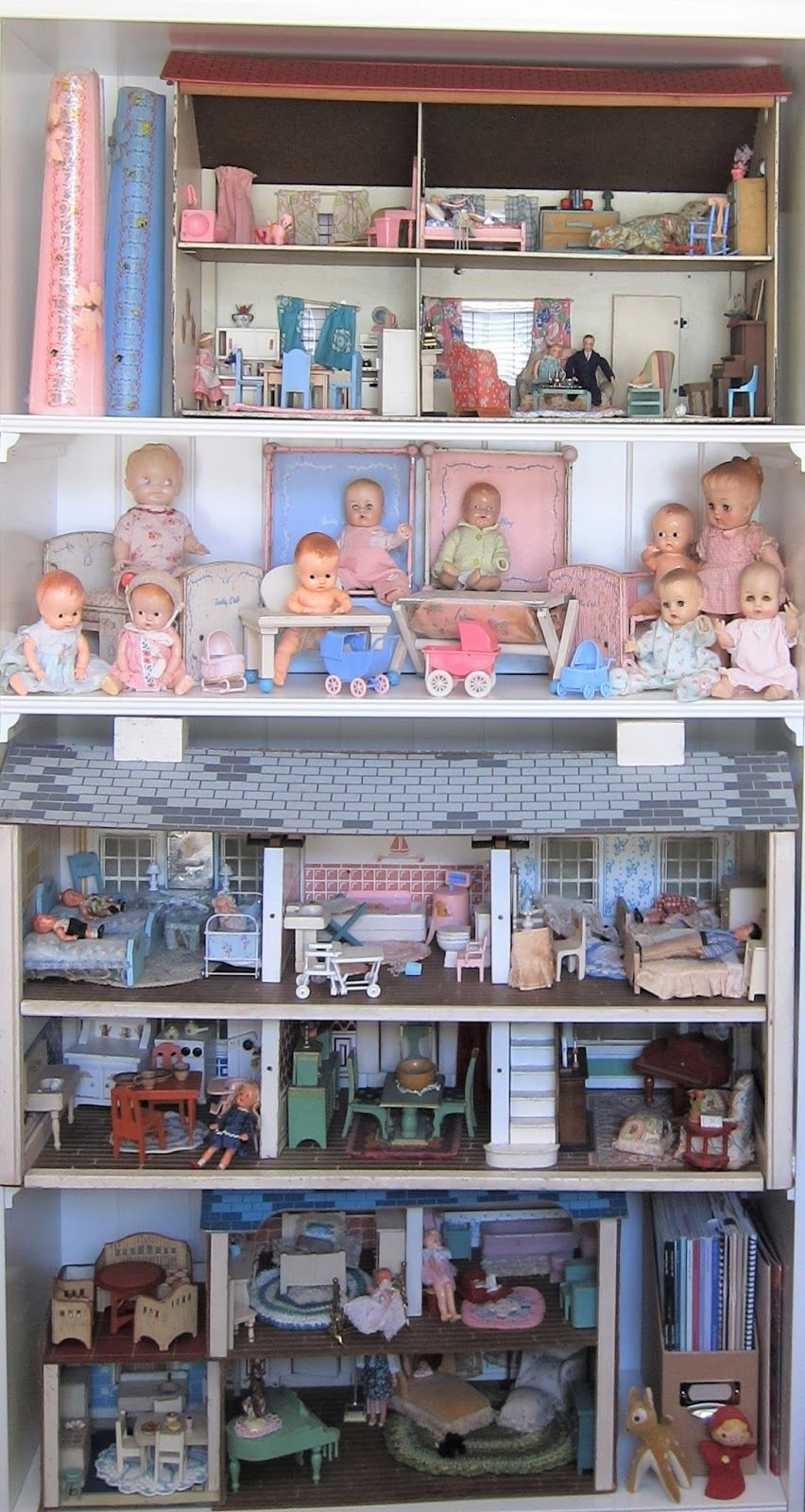 1600/'s Lady Miniature Dollhouse Doll House Picture