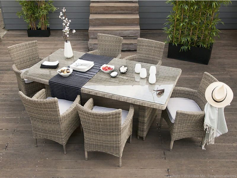Salon de jardin PORTEFINO Ermanno G | Delamaison | Outdoor furniture ...