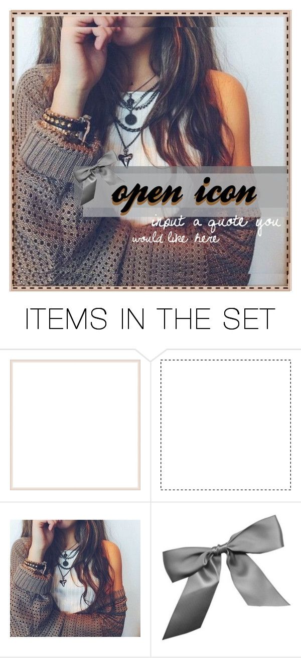 """""""open icon, insert your own quote :) comment for claim!"""" by delightfulicons ❤ liked on Polyvore featuring art"""