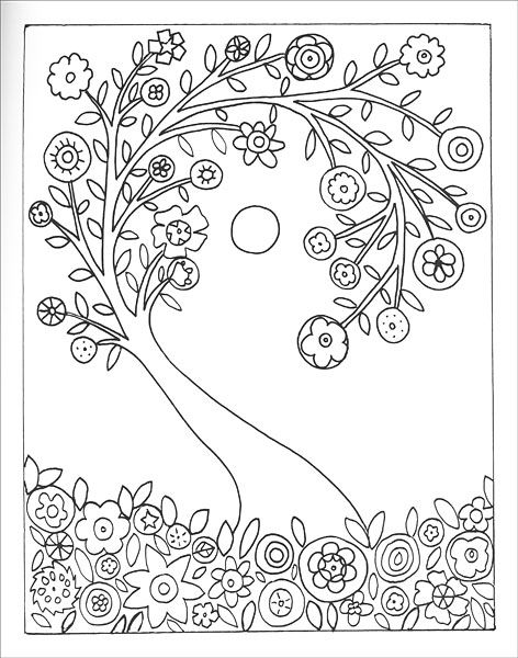 Fanciful Folk Art Coloring Book from KnitPicks.com Knitting by Karla ...