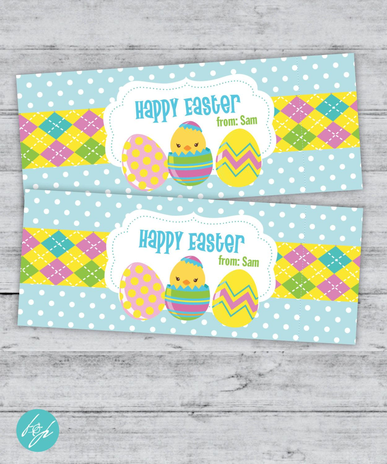 Easter Bag Topper, Treat Bag, Party Favor Tag, Personalized Bag Toppers, Printable Tags, Printable Easter Tag, Bag Toppers, DIGITAL FILE by FlairandPaper on Etsy