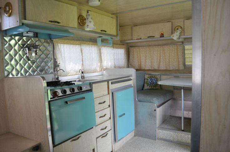 Vintage Trailer Interior Ideas Vintage 1966 Aristocrat Lo Liner Camper Travel Trailer Vintage Trailer Interior Vintage Camper Interior Travel Trailer Decor